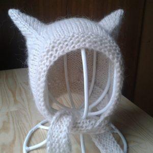 czapeczka kotek z uszkami