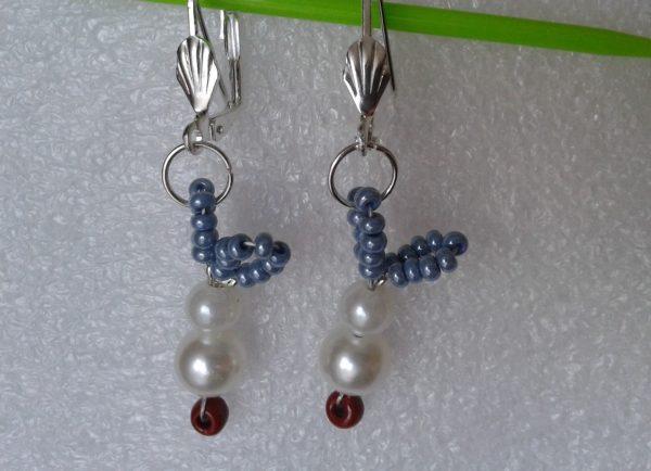 kolczyki zajączki perłowe