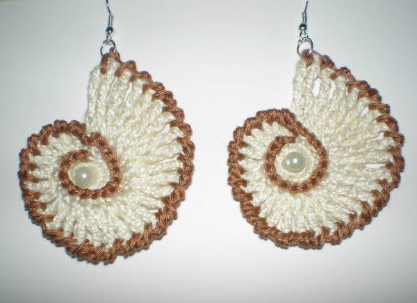 kolczyki muszle z perłą