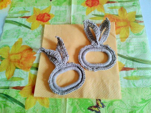 pierścień na serwetkę zając