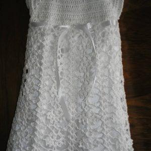 sukienka z podszewką biała bez rękawków