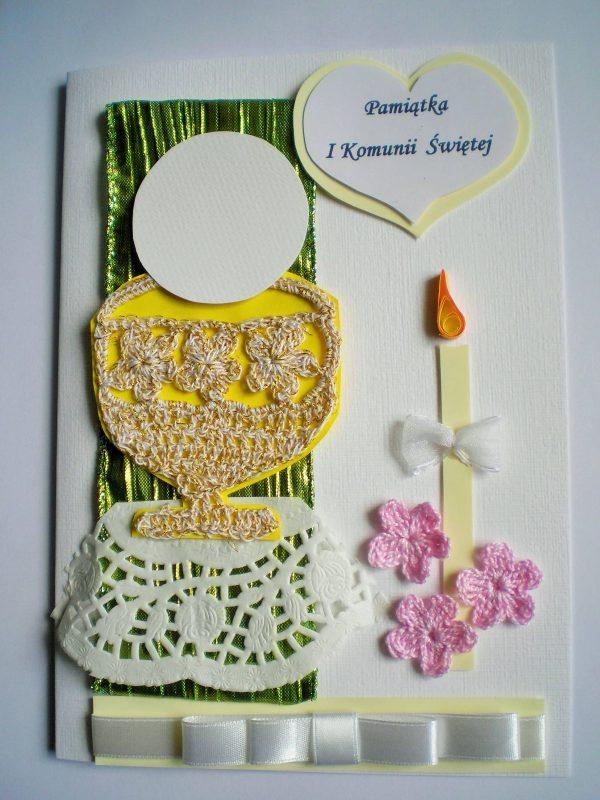 kartka komunijna dla dziewczynki