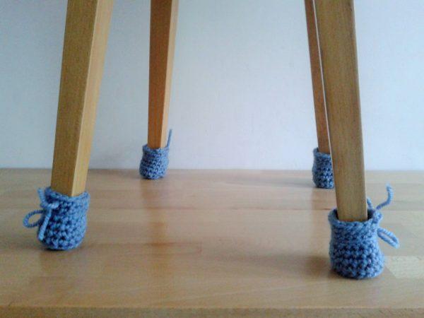Skarpetki ochronne na nogi krzesła 1 komplet