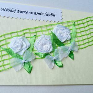 Kartka ślubna 3 białe róże