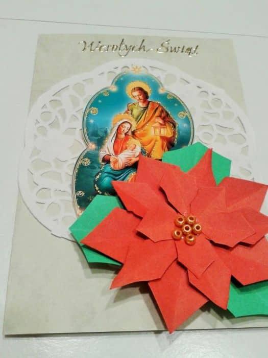 Kartka świąteczna z gwiazdą betlejemską