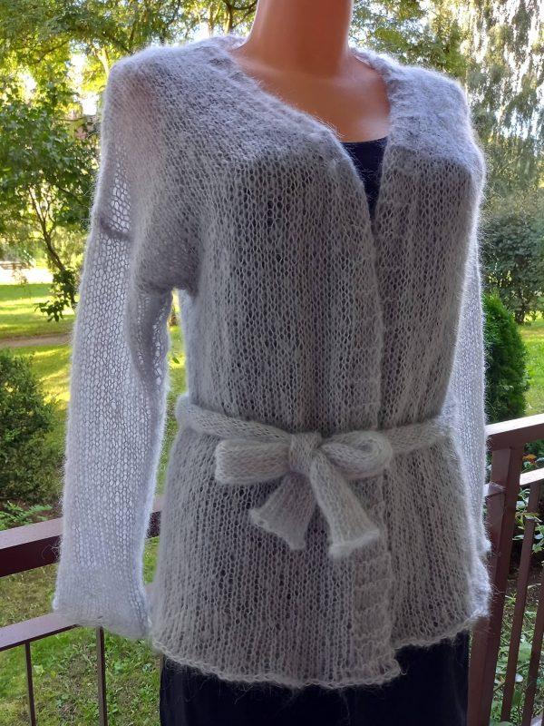 Sweterek szary wiązany