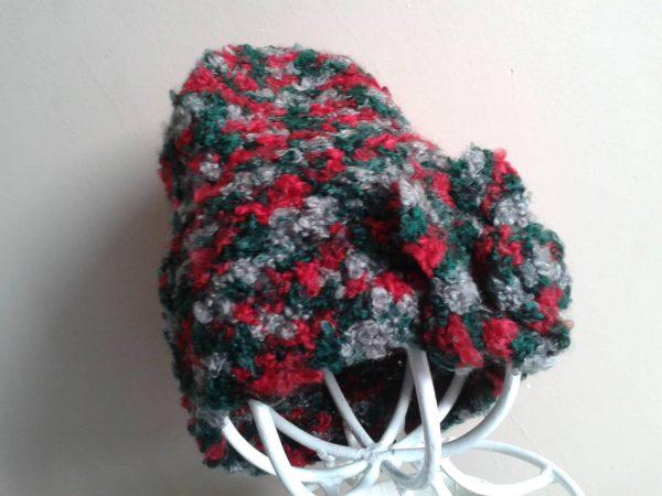 Czapka i szalik zielono-czerwone